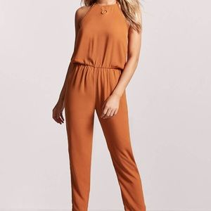 Crepe Halter Jumpsuit Forever 21 Small